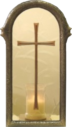 lantern 37 cm and cross
