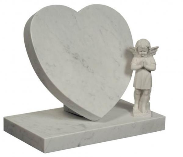 sydän mallinen hautakivi lapselle